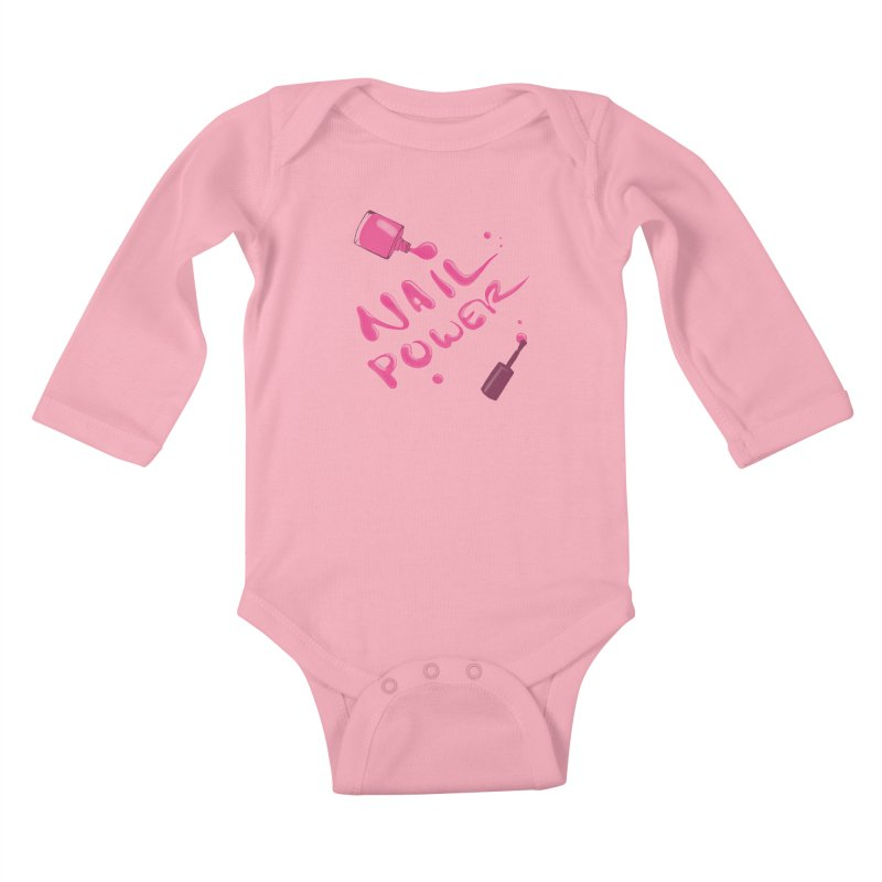 Nail Power Kids Baby Longsleeve Bodysuit by Nails & Threads
