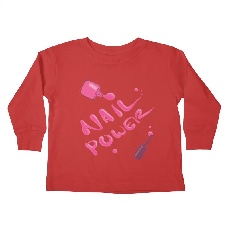 Nail Power Kids Toddler Longsleeve T-Shirt by Nails & Threads