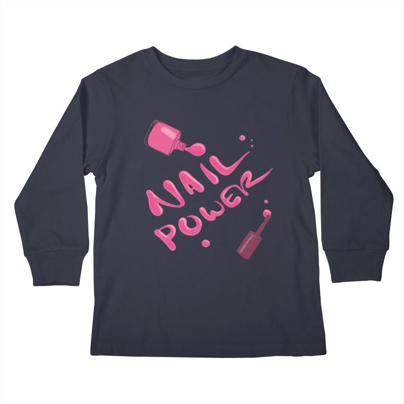 Nail Power Kids Longsleeve T-Shirt by Nails & Threads