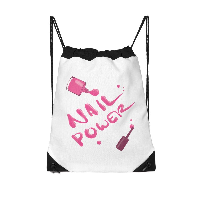 Nail Power Accessories Drawstring Bag Bag by Nails & Threads