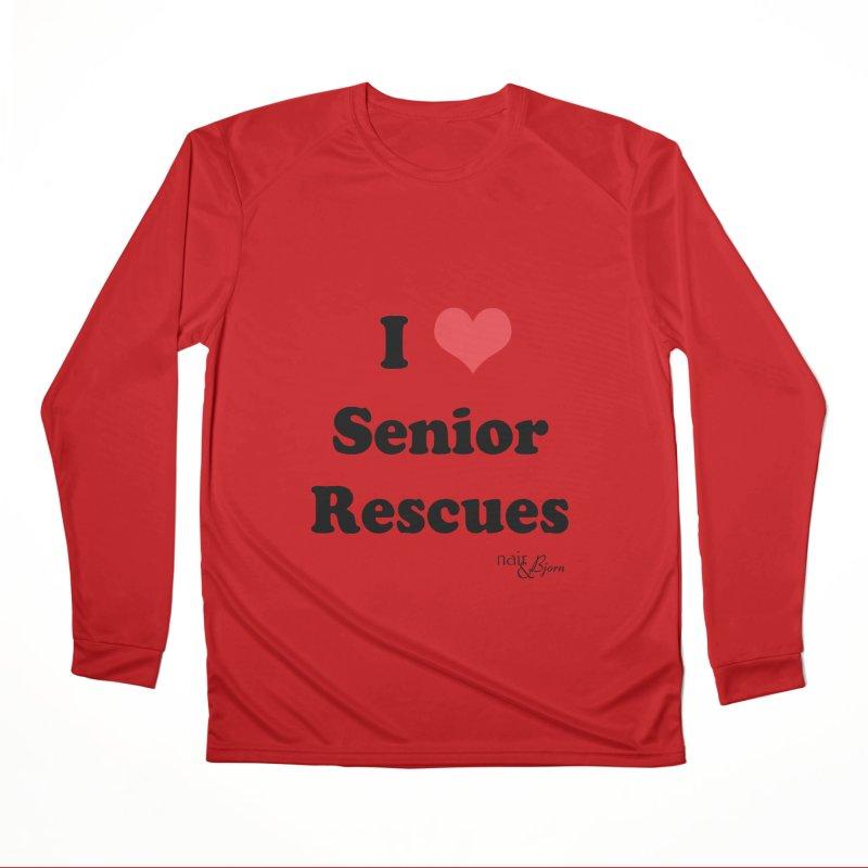I ♥ Senior Rescues Women's Performance Unisex Longsleeve T-Shirt by Nair & Bjorn Threadless Shop