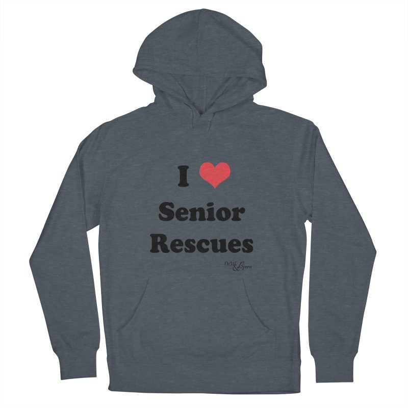 I ♥ Senior Rescues Men's French Terry Pullover Hoody by Nair & Bjorn Threadless Shop