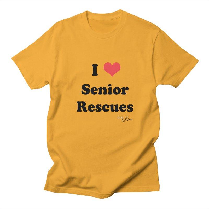I ♥ Senior Rescues Men's Regular T-Shirt by Nair & Bjorn Threadless Shop
