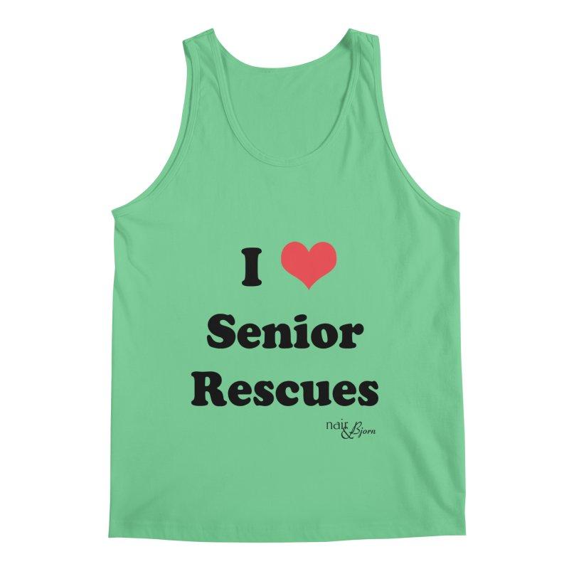 I ♥ Senior Rescues Men's Regular Tank by Nair & Bjorn Threadless Shop