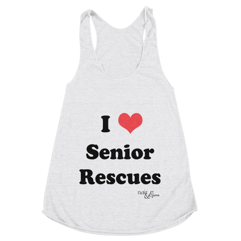 I ♥ Senior Rescues Women's Racerback Triblend Tank by Nair & Bjorn Threadless Shop