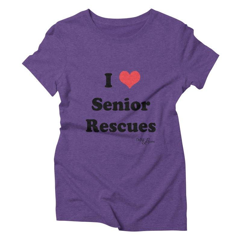 I ♥ Senior Rescues Women's Triblend T-Shirt by Nair & Bjorn Threadless Shop