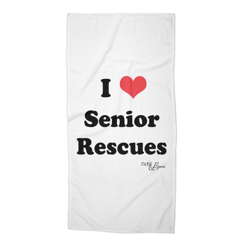 I ♥ Senior Rescues Accessories Beach Towel by Nair & Bjorn Threadless Shop