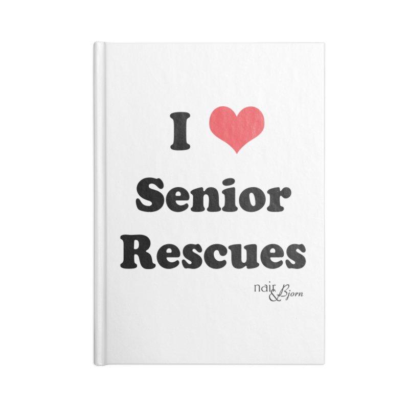 I ♥ Senior Rescues Accessories Blank Journal Notebook by Nair & Bjorn Threadless Shop