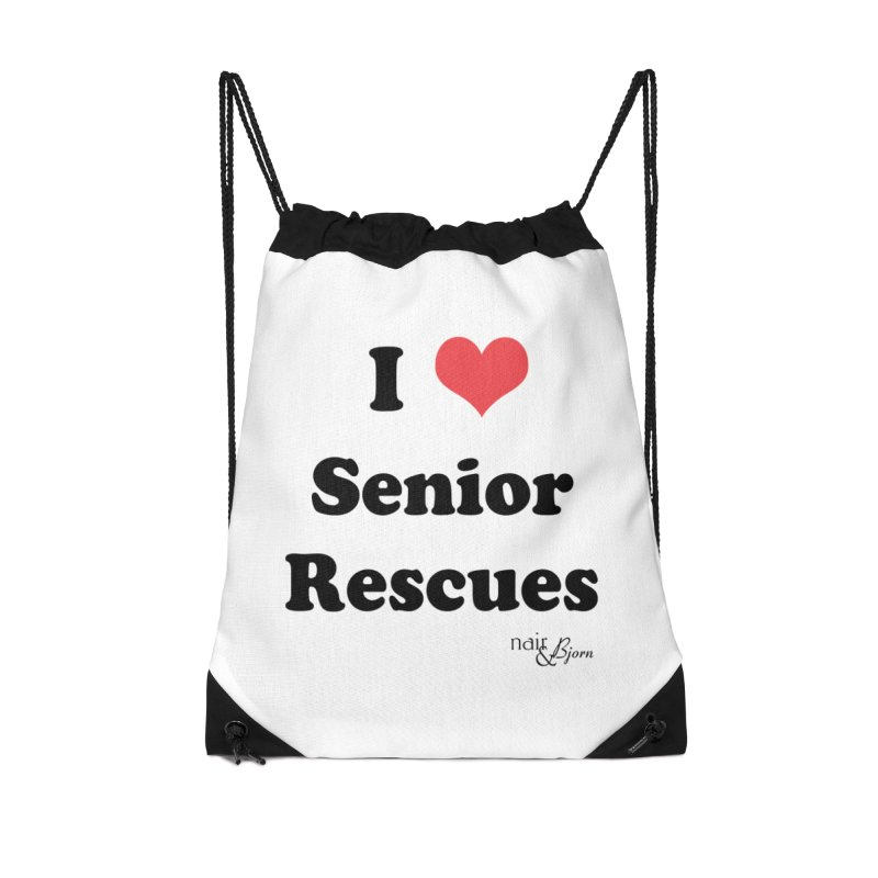 I ♥ Senior Rescues Accessories Drawstring Bag Bag by Nair & Bjorn Threadless Shop