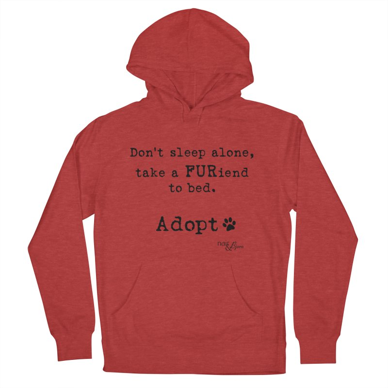 Take a FURiend To Bed Men's French Terry Pullover Hoody by Nair & Bjorn Threadless Shop