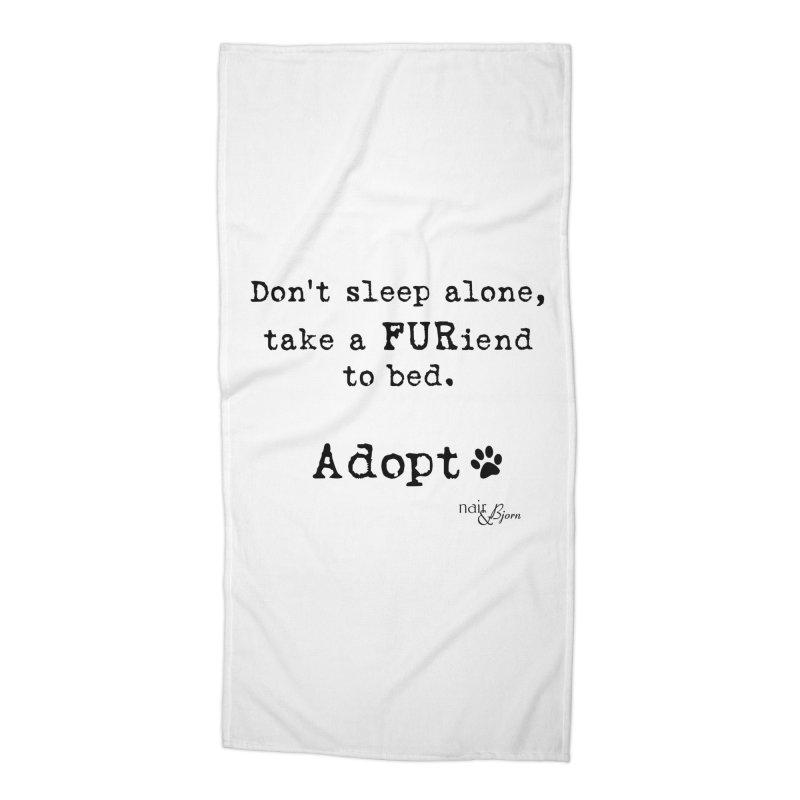 Take a FURiend To Bed Accessories Beach Towel by Nair & Bjorn Threadless Shop