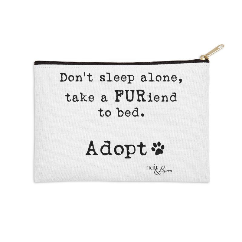 Take a FURiend To Bed Accessories Zip Pouch by Nair & Bjorn Threadless Shop