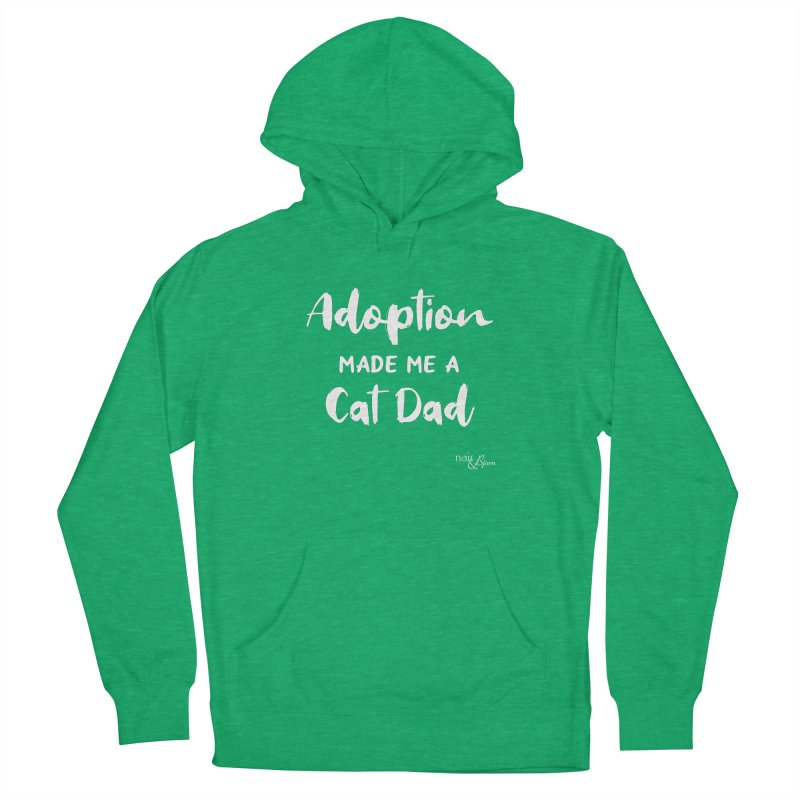 Adoption Made Me a Cat Dad in Men's French Terry Pullover Hoody Heather Kelly by Nair & Bjorn Threadless Shop