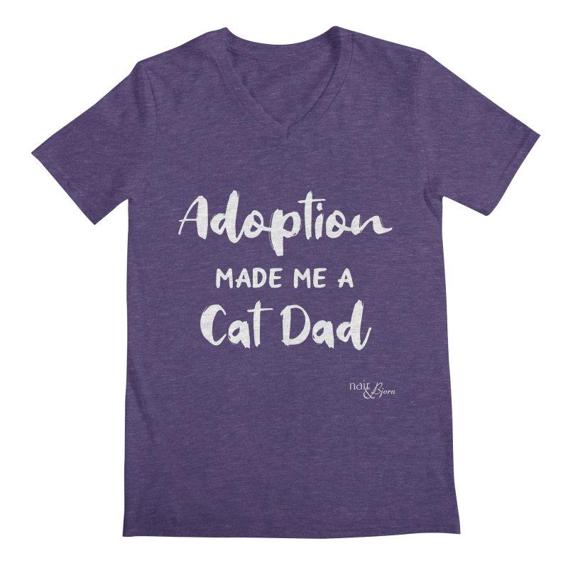 Adoption Made Me a Cat Dad Men's Regular V-Neck by Nair & Bjorn Threadless Shop