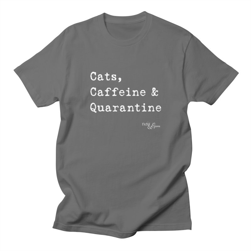 Cats, Caffeine & Quarantine Men's T-Shirt by Nair & Bjorn Threadless Shop