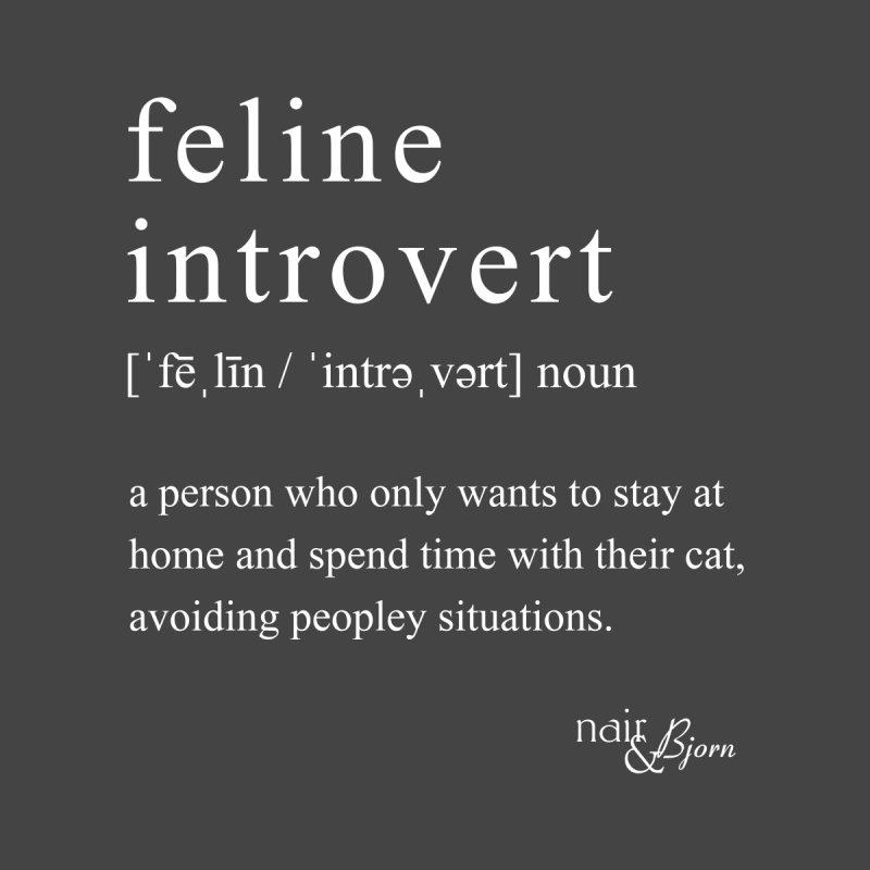 Feline Introvert Men's T-Shirt by Nair & Bjorn Threadless Shop