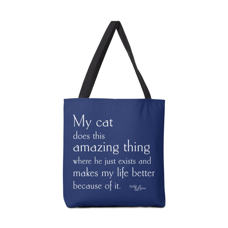 My Cat Does This Amazing Thing (He) Accessories Tote Bag Bag by Nair & Bjorn Threadless Shop