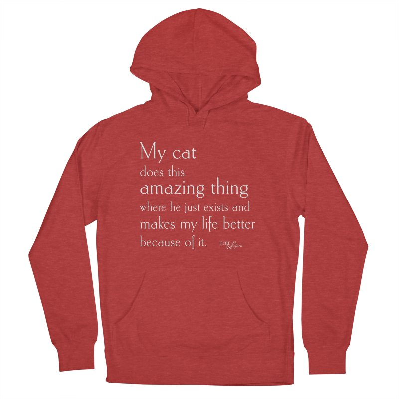 My Cat Does This Amazing Thing (He) Men's French Terry Pullover Hoody by Nair & Bjorn Threadless Shop