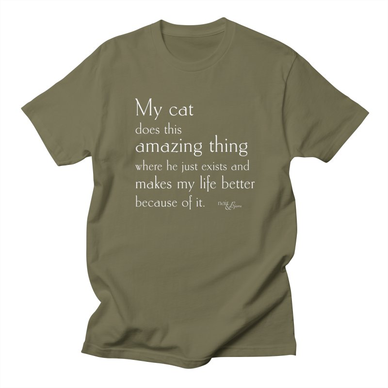 My Cat Does This Amazing Thing (He) Women's Regular Unisex T-Shirt by Nair & Bjorn Threadless Shop