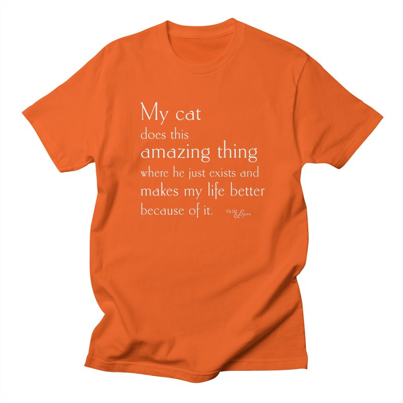 My Cat Does This Amazing Thing (He) Men's Regular T-Shirt by Nair & Bjorn Threadless Shop