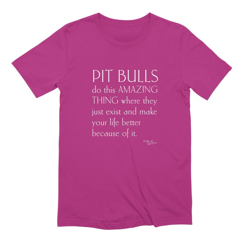 Pit Bulls Do This Amazing Thing Men's Extra Soft T-Shirt by Nair & Bjorn Threadless Shop