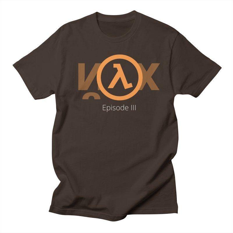 Half-life episode 3 in Men's Regular T-Shirt Chocolate by Designed by Alex Naletko