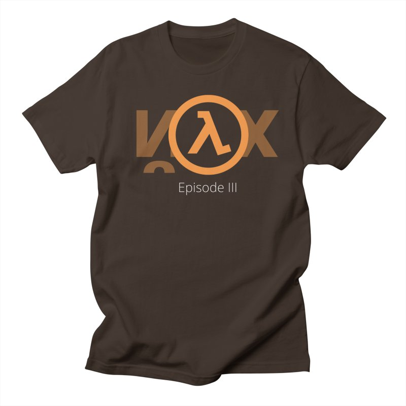Half-life episode 3 in Men's Regular T-Shirt Chocolate by Designed by Alex Naletko