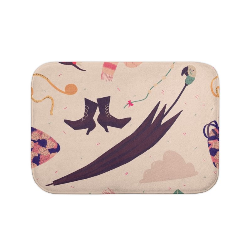 Practically Perfect Pattern Home Bath Mat by nanlawson's Artist Shop