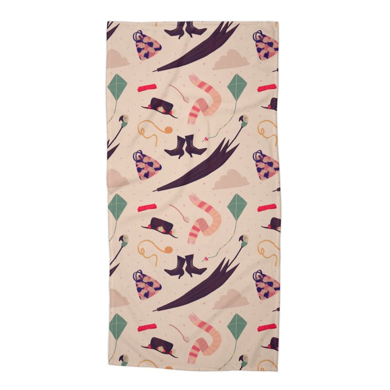 Practically Perfect Pattern Accessories Beach Towel by nanlawson's Artist Shop