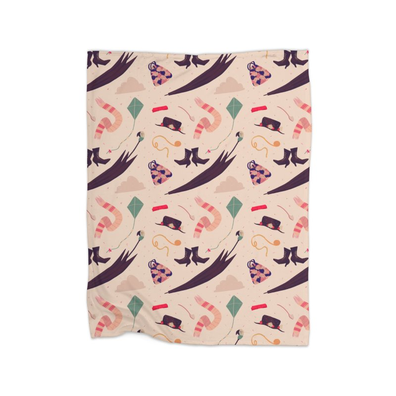 Practically Perfect Pattern Home Blanket by nanlawson's Artist Shop