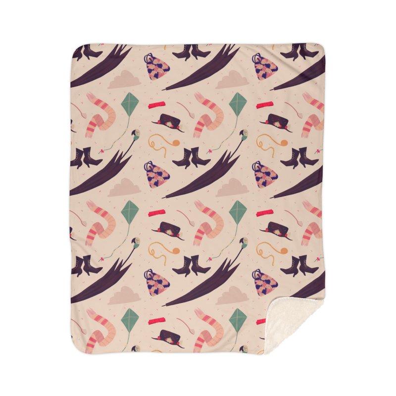 Practically Perfect Pattern Home Sherpa Blanket Blanket by Nan Lawson