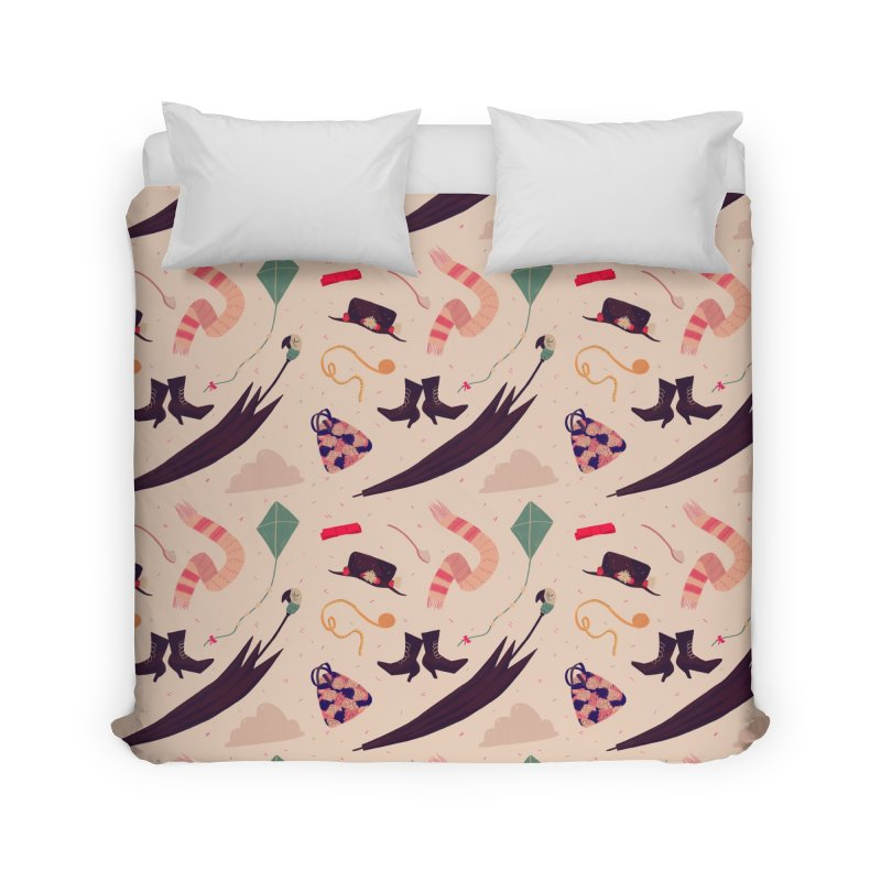 Practically Perfect Pattern Home Duvet by nanlawson's Artist Shop