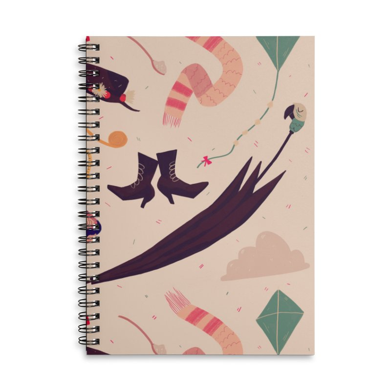Practically Perfect Pattern Accessories Lined Spiral Notebook by Nan Lawson