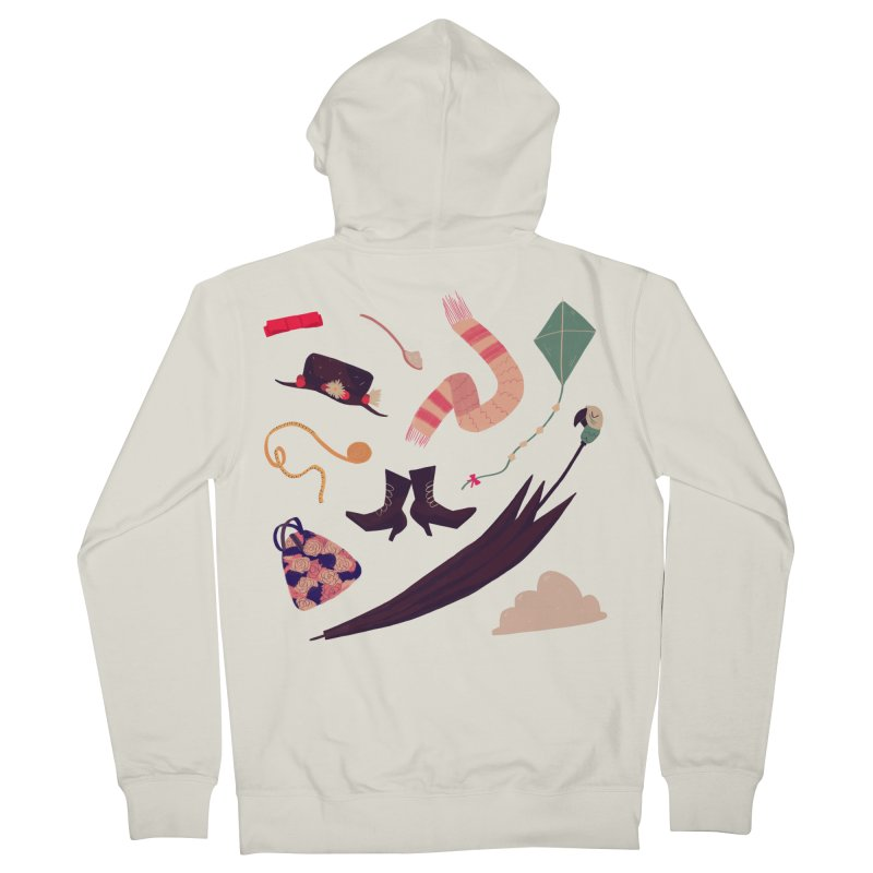 Practically Perfect Pattern Men's French Terry Zip-Up Hoody by nanlawson's Artist Shop