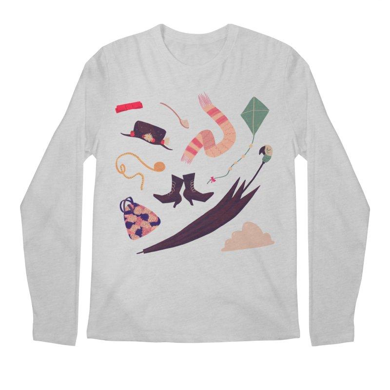 Practically Perfect Pattern Men's Longsleeve T-Shirt by nanlawson's Artist Shop