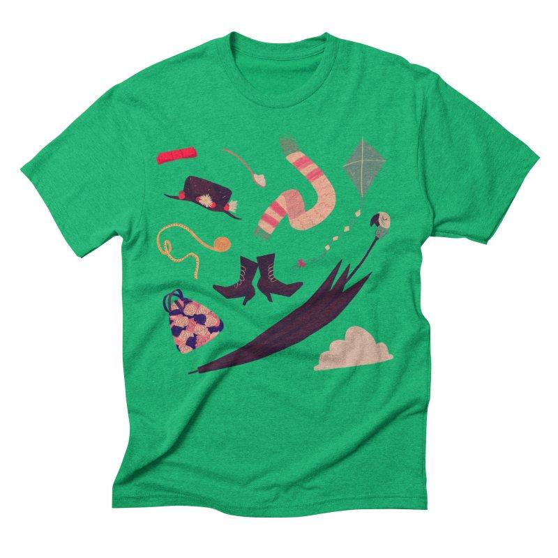 Practically Perfect Pattern Men's Triblend T-Shirt by Nan Lawson