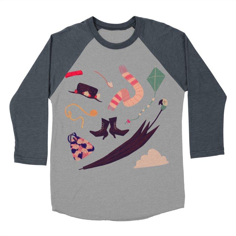 Practically Perfect Pattern Men's Baseball Triblend Longsleeve T-Shirt by nanlawson's Artist Shop