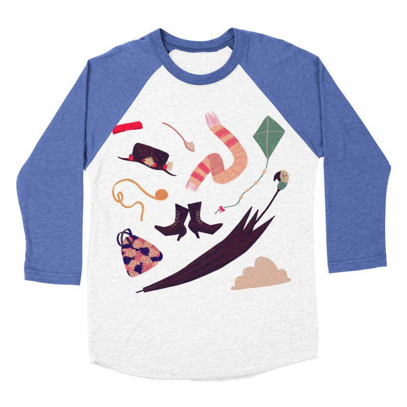 Practically Perfect Pattern Men's Baseball Triblend T-Shirt by nanlawson's Artist Shop