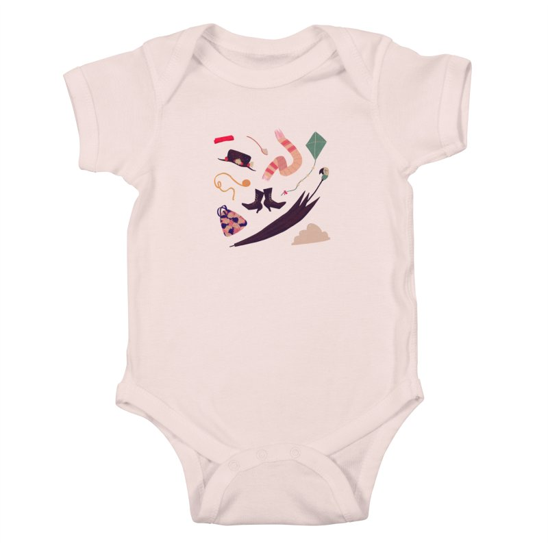 Practically Perfect Pattern Kids Baby Bodysuit by nanlawson's Artist Shop