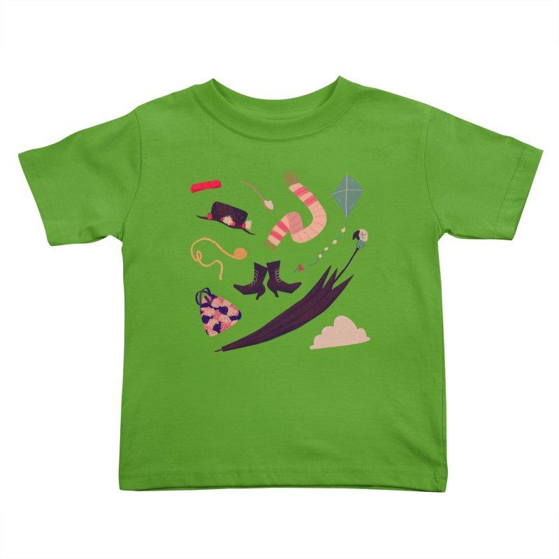 Practically Perfect Pattern Kids Toddler T-Shirt by Nan Lawson