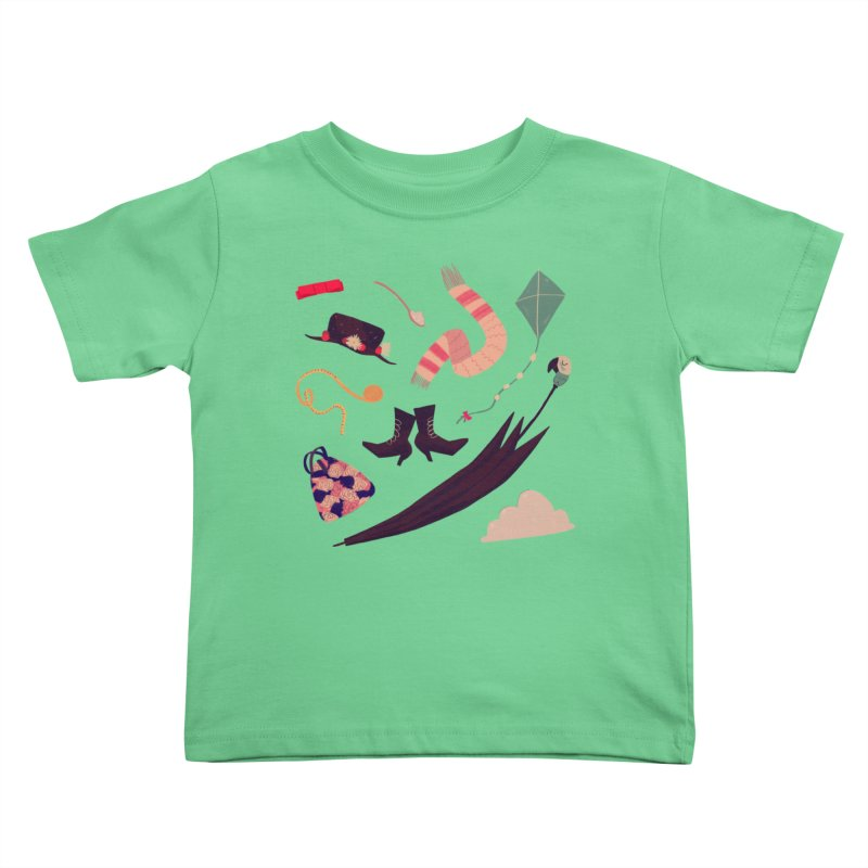 Practically Perfect Pattern Kids Toddler T-Shirt by nanlawson's Artist Shop