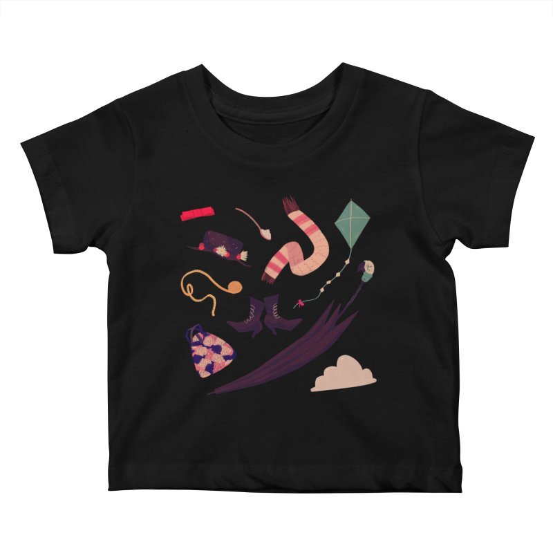 Practically Perfect Pattern Kids Baby T-Shirt by Nan Lawson