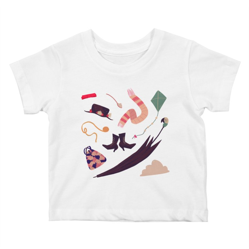 Practically Perfect Pattern Kids Baby T-Shirt by nanlawson's Artist Shop