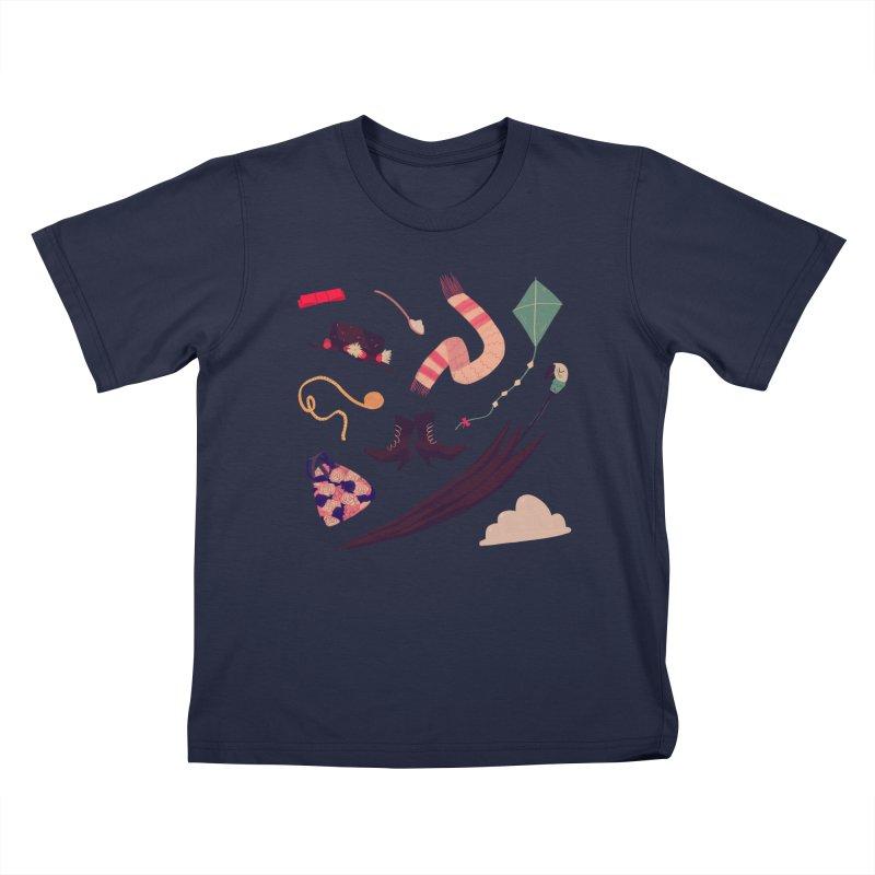 Practically Perfect Pattern Kids T-Shirt by Nan Lawson