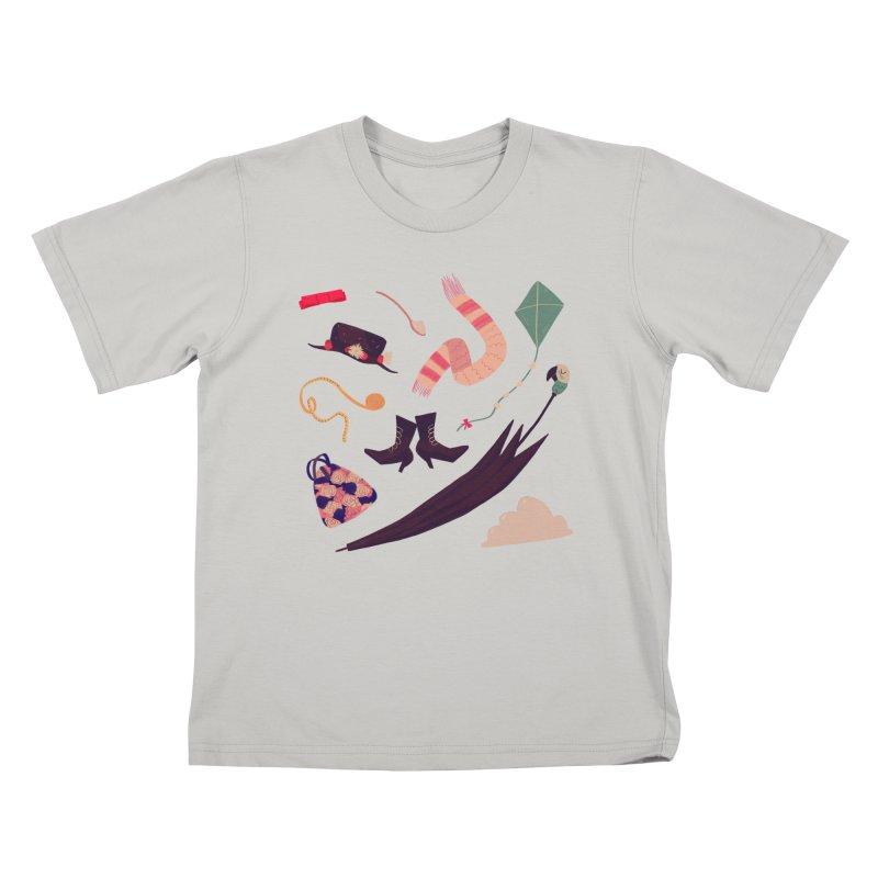 Practically Perfect Pattern Kids T-shirt by nanlawson's Artist Shop