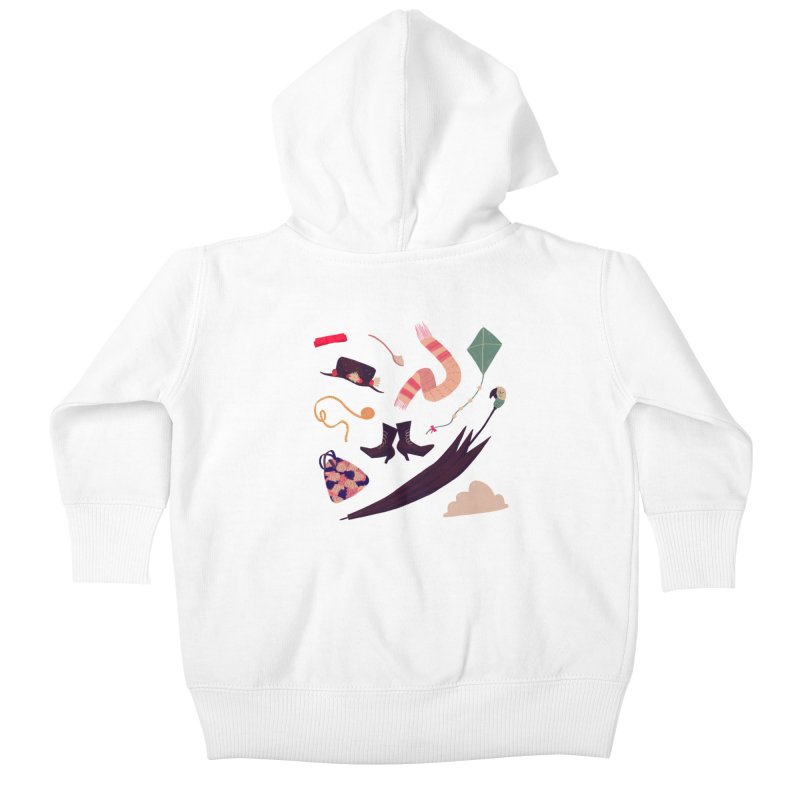 Practically Perfect Pattern Kids Baby Zip-Up Hoody by nanlawson's Artist Shop