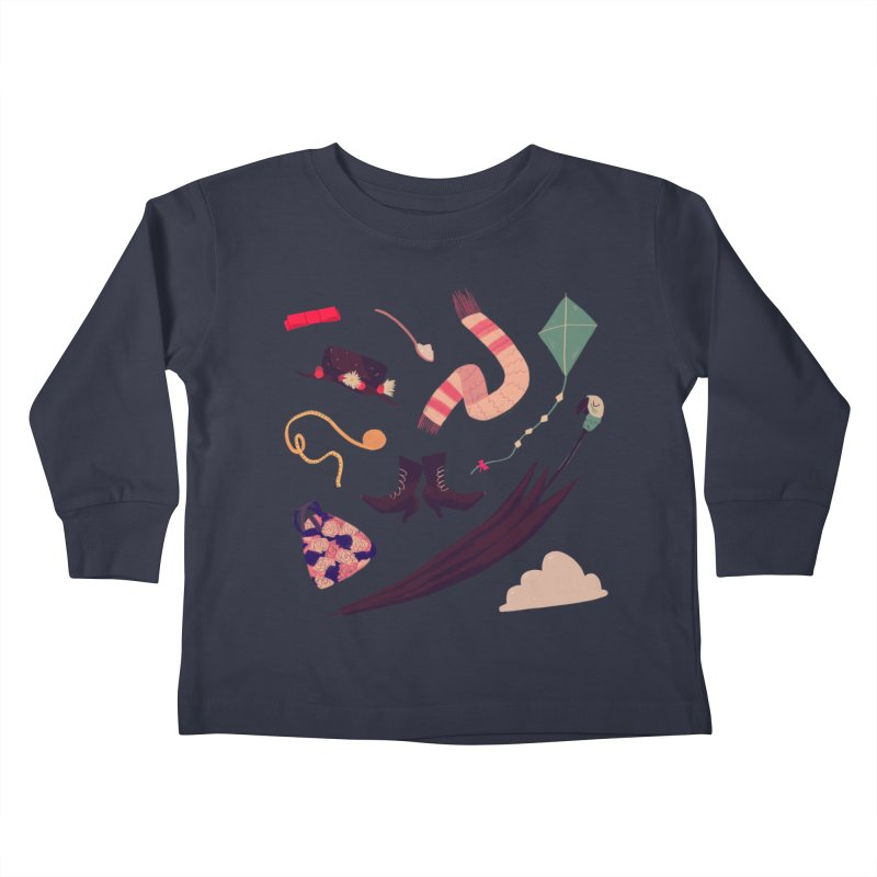 Practically Perfect Pattern Kids Toddler Longsleeve T-Shirt by nanlawson's Artist Shop
