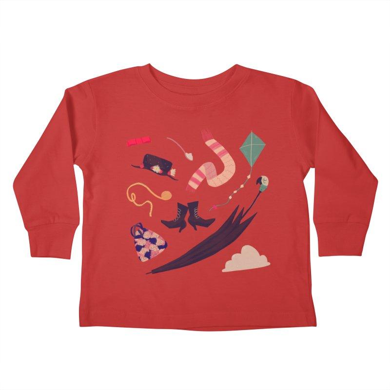 Practically Perfect Pattern Kids Toddler Longsleeve T-Shirt by nanlawson's Artist Shop