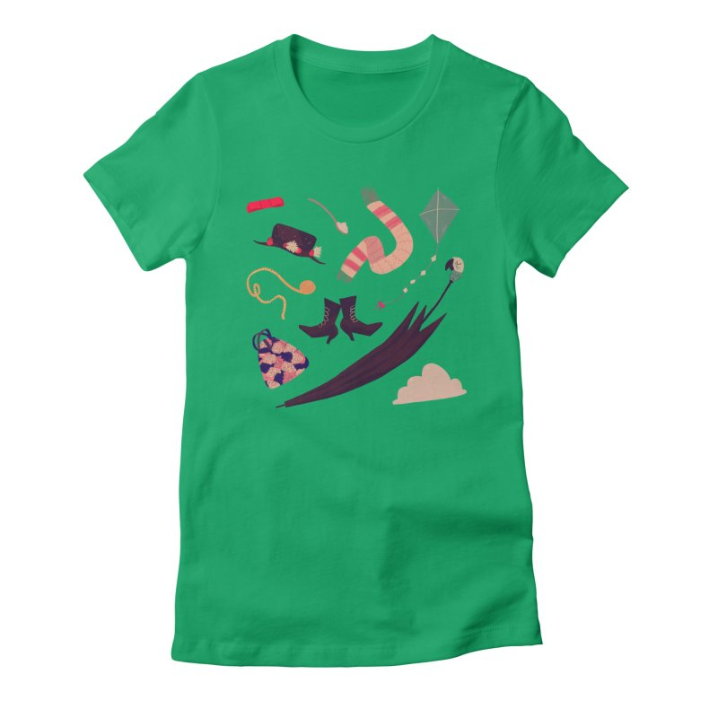 Practically Perfect Pattern Women's Fitted T-Shirt by nanlawson's Artist Shop