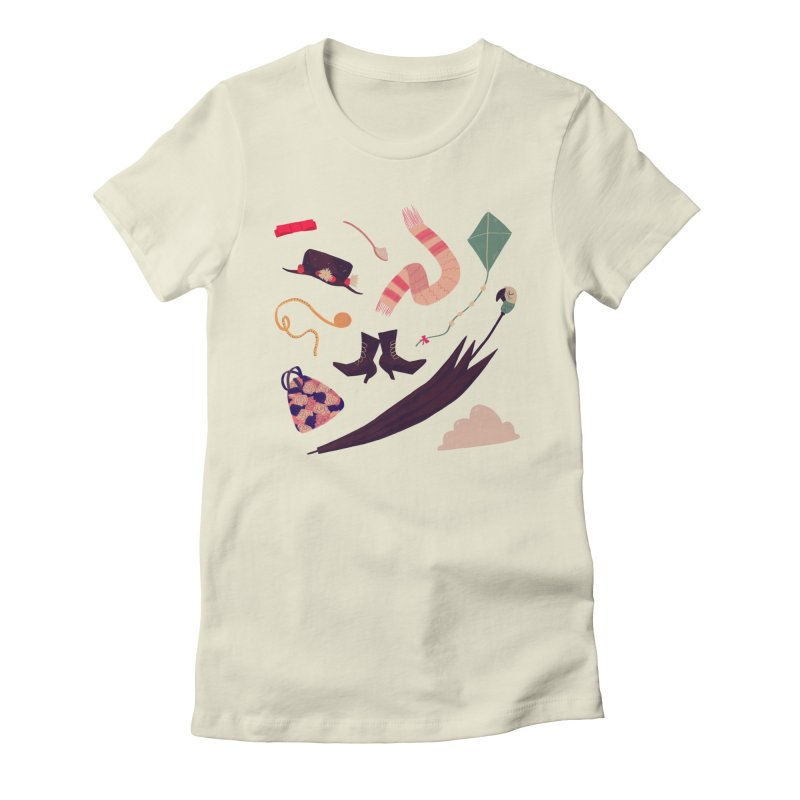 Practically Perfect Pattern Women's Fitted T-Shirt by Nan Lawson